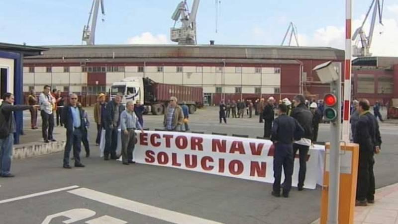 Soria pide que los astilleros españoles tengan el mismo trato que los de Francia y Almunia dice que es lo que la CE está haciendo