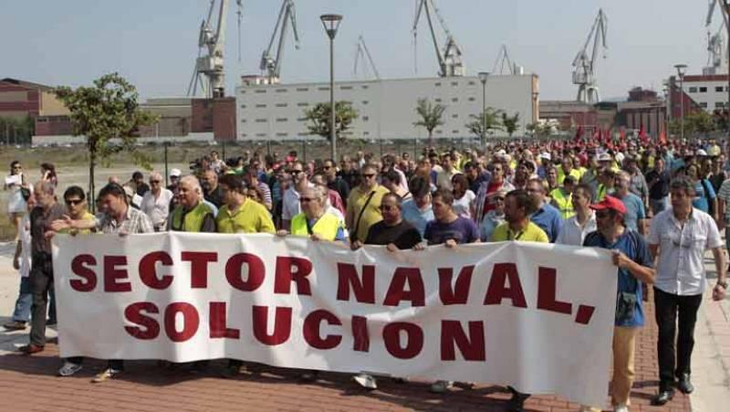 Movilizaciones en los astilleros españoles