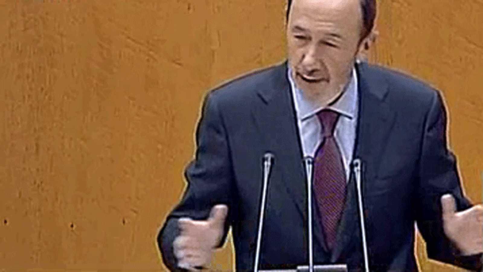 """Rubalcaba anuncia que el PSOE """"no renuncia"""" a la moción de censura como instrumento"""