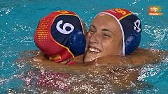 Postpartido de la final de waterpolo femenino: España - Australia.