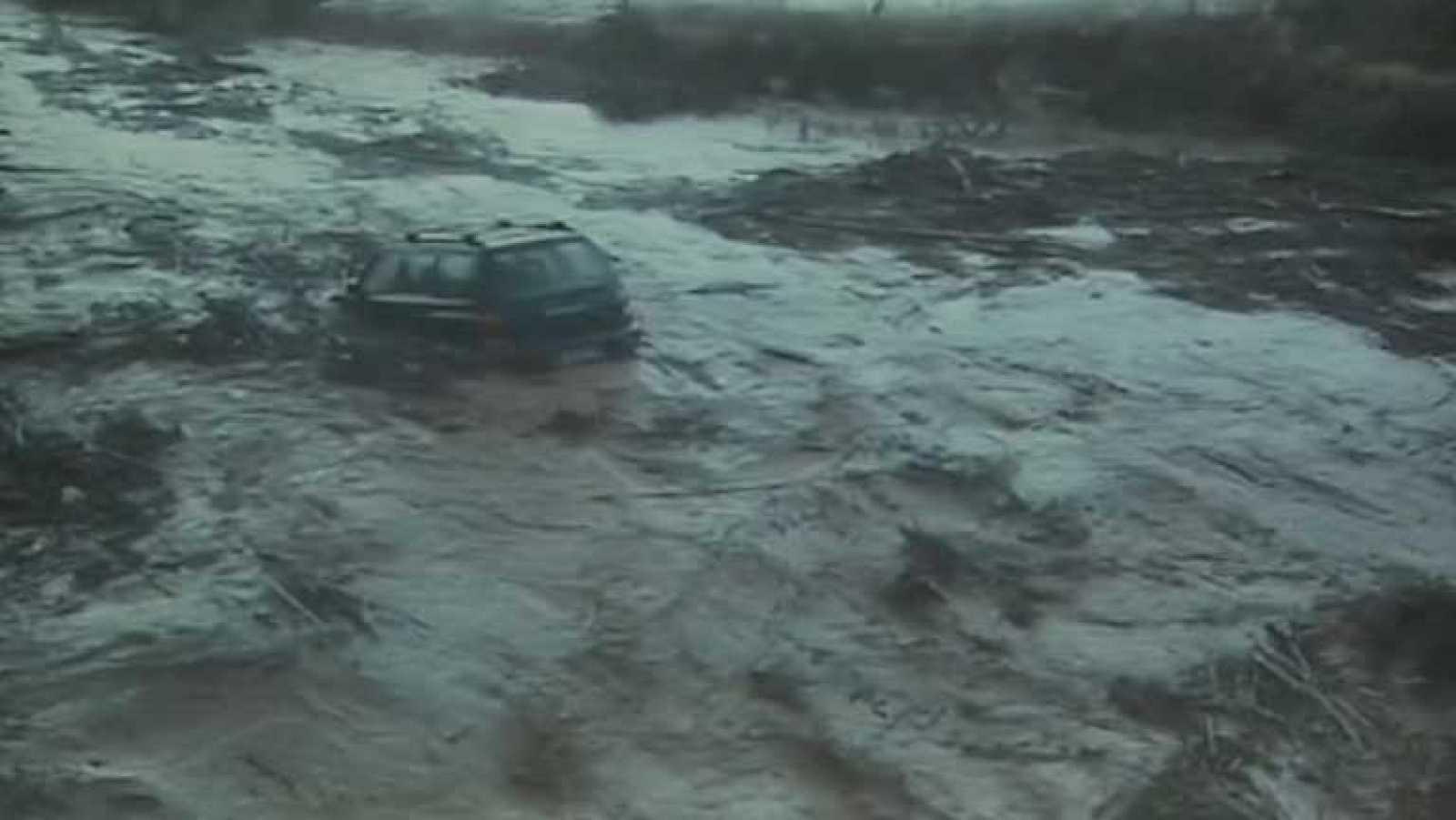 Un desaparecido en Oliete,Teruel, tras la riada provocada por una fuerte tromba de agua
