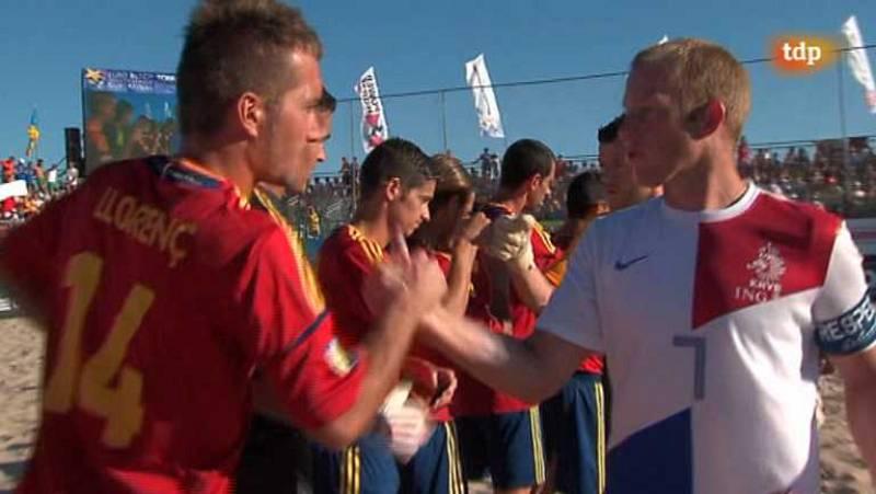Fútbol playa - Final Liga Europea: España-Holanda - ver ahora