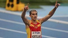 Hortelano, a semifinales de 200 con récord de España