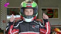 Iván, el rey en la pista de karts