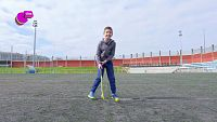 Miguel, un crack con el stick de hockey