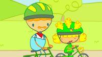 Mya Go y las lecciones de bicicleta