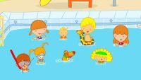 Mya Go va a la piscina