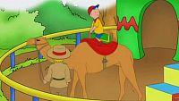 El paseo a camello de caillou