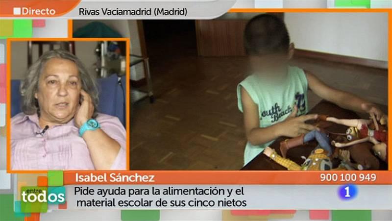 Entre Todos - Isabel pide ayuda para la alimentación y el material escolar de sus nietos