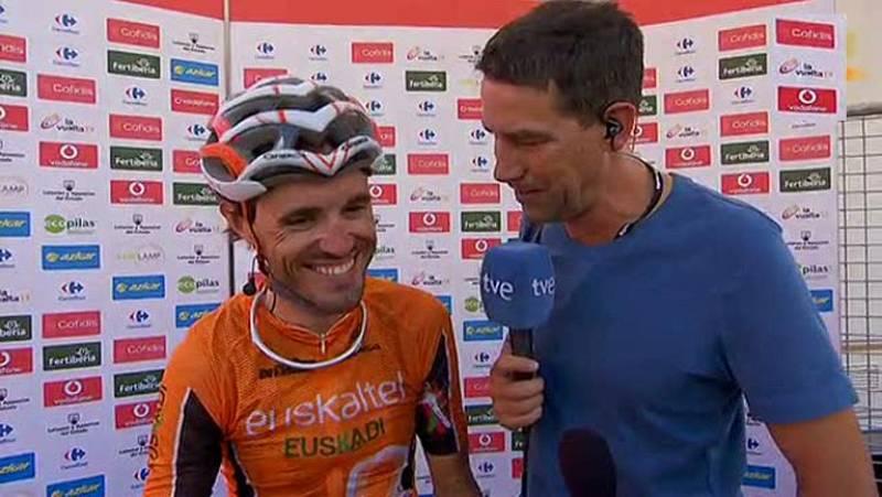 """El asturiano del Euskaltel ha vuelto a sonreír después de pasar unos días malos. El día del Monte da Groba sufrió encima de la bicicleta pero son """"gajes del oficio""""."""
