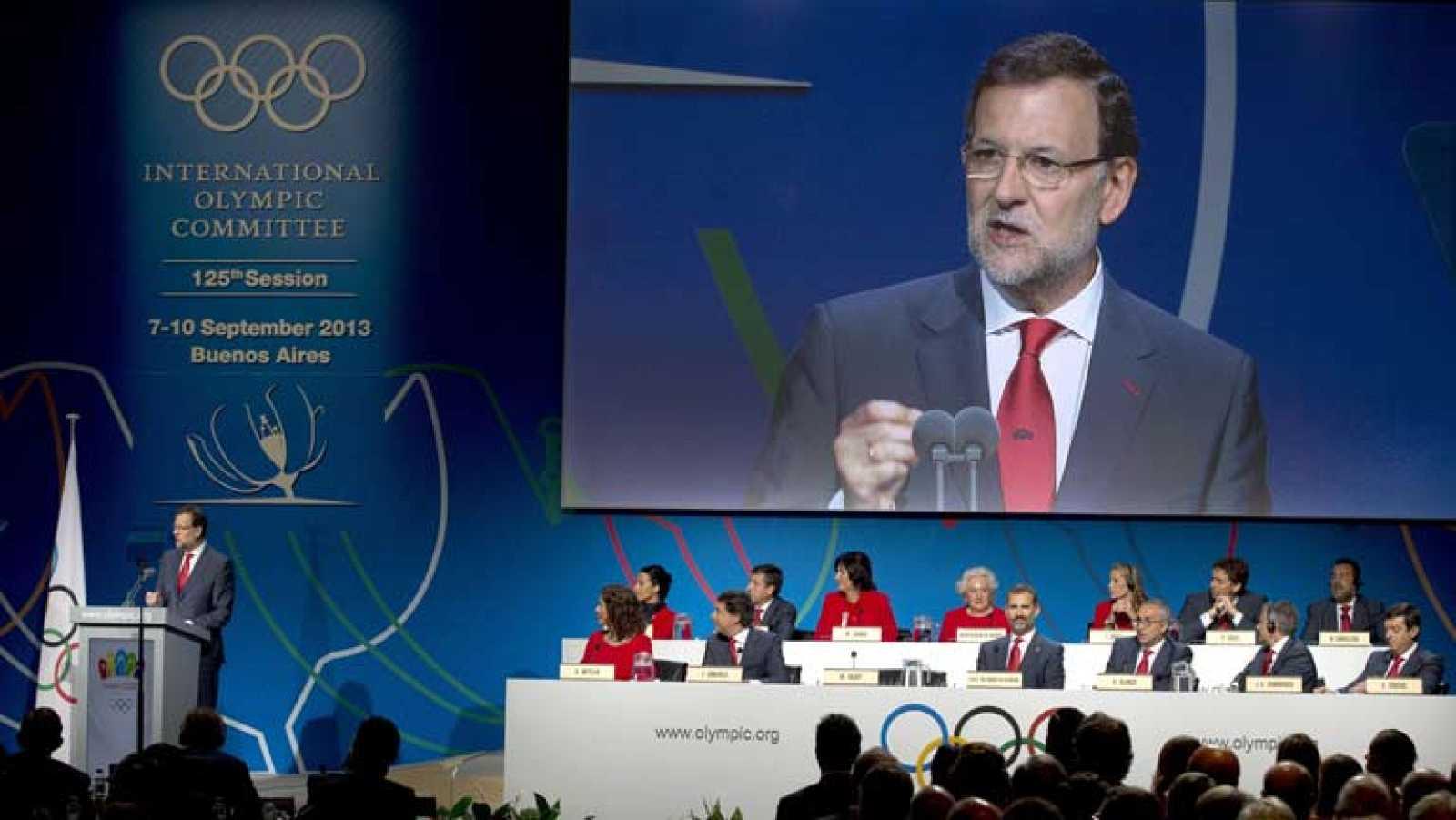 El presidente del Gobierno, Mariano Rajoy, ha defendido ante los  miembros del COI, que en unas horas votarán la ciudad que organizará  los Juegos Olímpicos y Paralímpicos de 2020, la base financiera de la  candidatura de Madrid para acabar con cualq