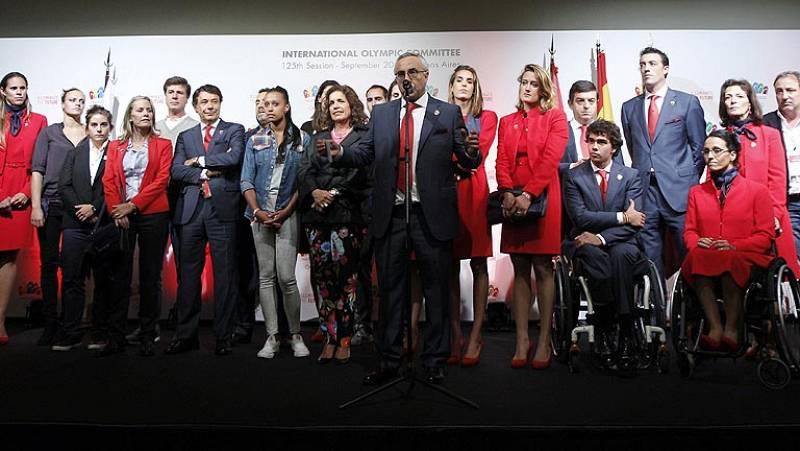 """El presidente del COE, Alejandro Blanco, ha asegurado que Madrid 2020 ha perdido pero """"hemos ganado porque todos juntos podemos afrontar un gran proyecto""""."""