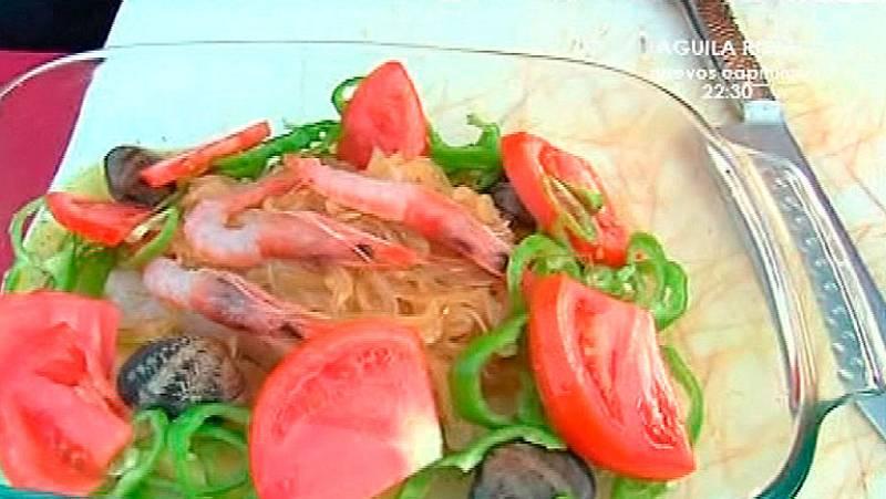 Bacalao en salsa de sidra con aroma de romero
