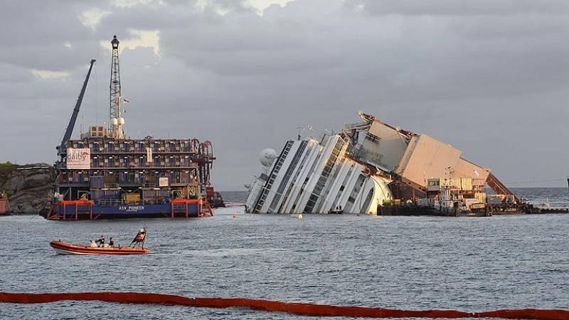 Comienzan los trabajos para intentar reflotar el Costa Concordia