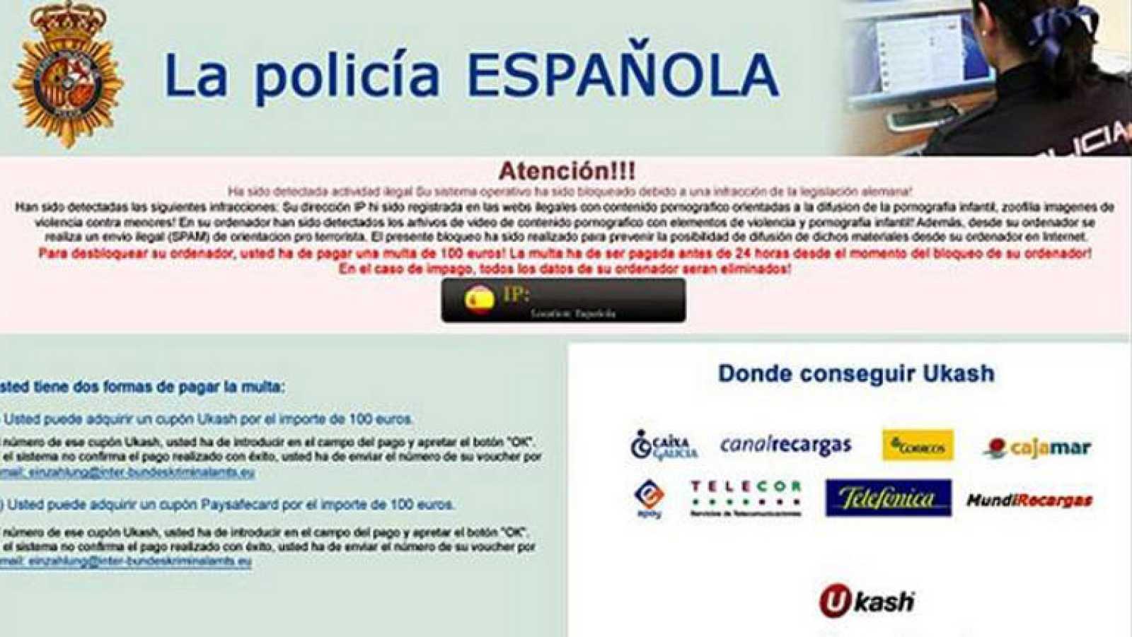 Desarticulada en Madrid la rama económica de la red cibercriminal del 'virus de la Policía'