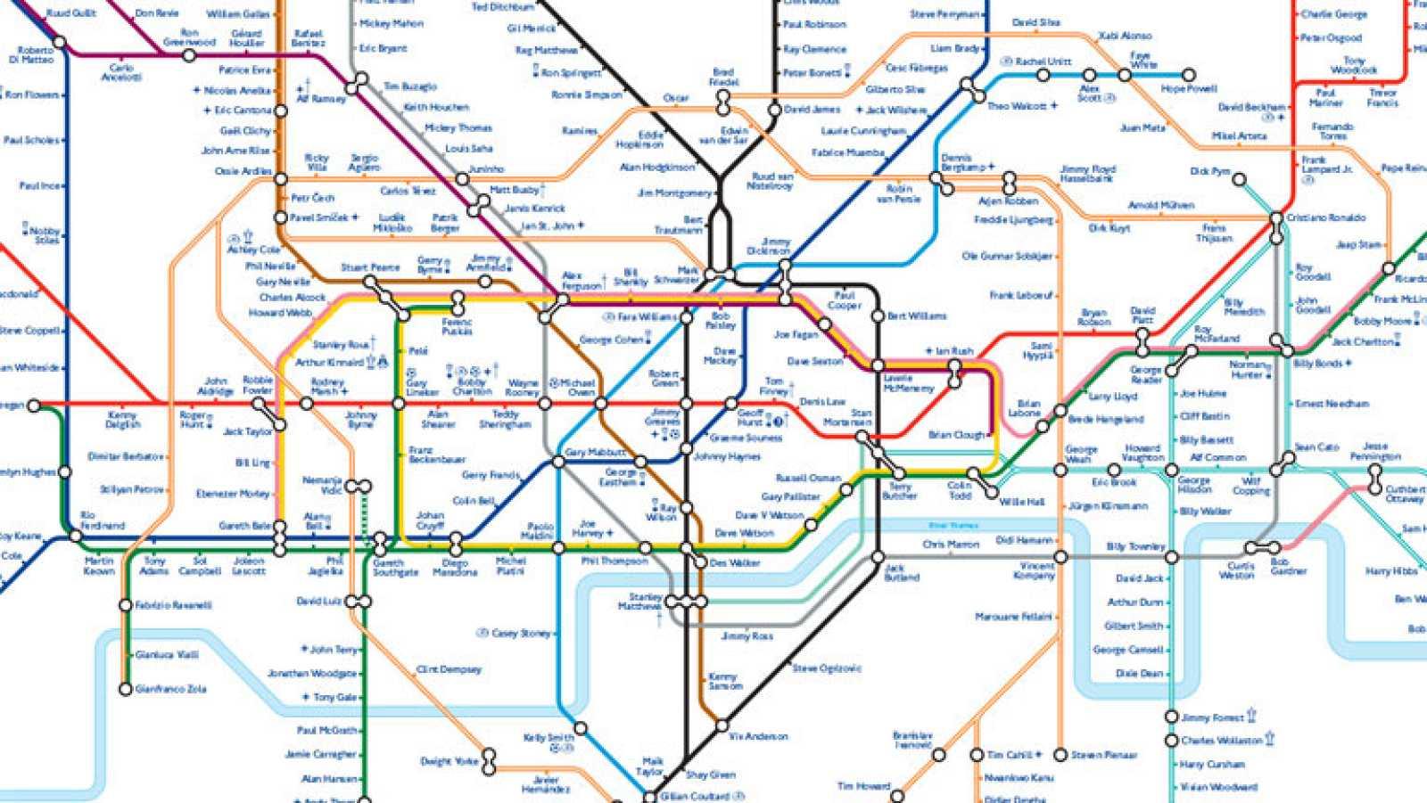 Futbol Inglaterra El Metro De Londres Se Viste De Corto Rtve Es