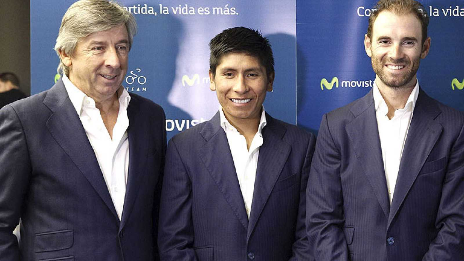La firma Movistar ha renovado tres años más su patrocinio con el equipo ciclista que dirige Eusebio Unzue, que mantendrá como líderes de la formación a Alejandro Valverde y Nairo Quintana.