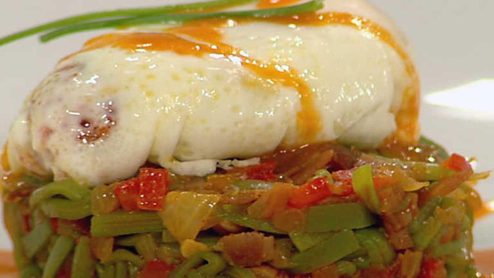 Cocina con Sergio -Huevos escalfados con chistorra en salsa del Roncal - ver ahora