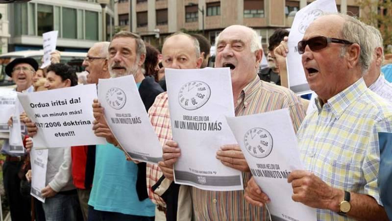Sortu, sindicatos nacionalistas y organizaciones de apoyo celebran la sentencia, en Bilbao