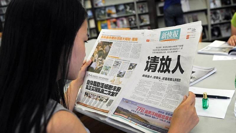 Un periódico chino reclama en portada la liberación de uno de sus periodistas detenidos