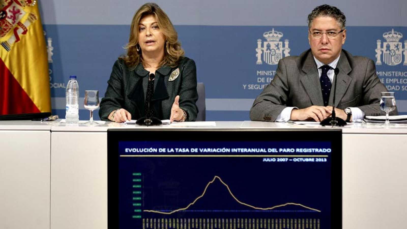 """Engracia Hidalgo: """"Se confirma la tendencia de largo recorrido que nos ha permitido tener menos parados que hace un año"""""""