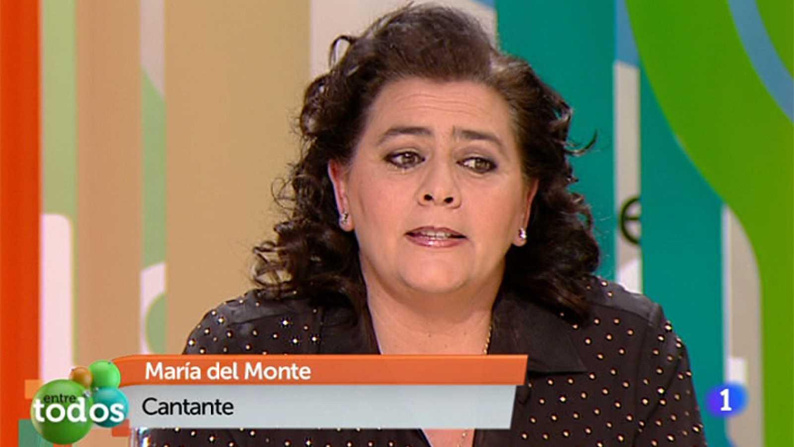 """Entre Todos - María del Monte: """"La gente aquí desnuda su alma"""""""