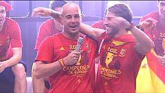 Sergio Ramos y Pepe Reina