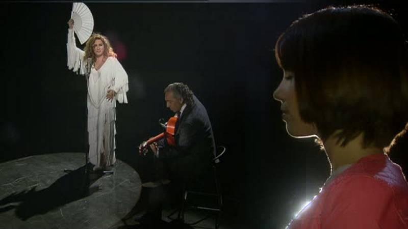 Elena Furiase en el Teatro Villamarta, donde debutó su abuela con 16 años