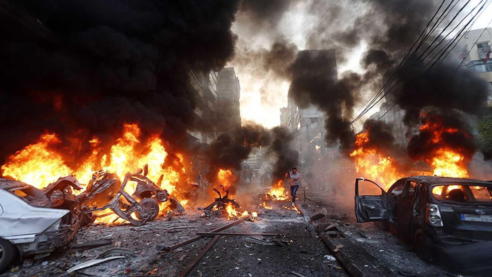 Varios muertos en un atentado con coche bomba en un bastión de Hizbulá de Beirut