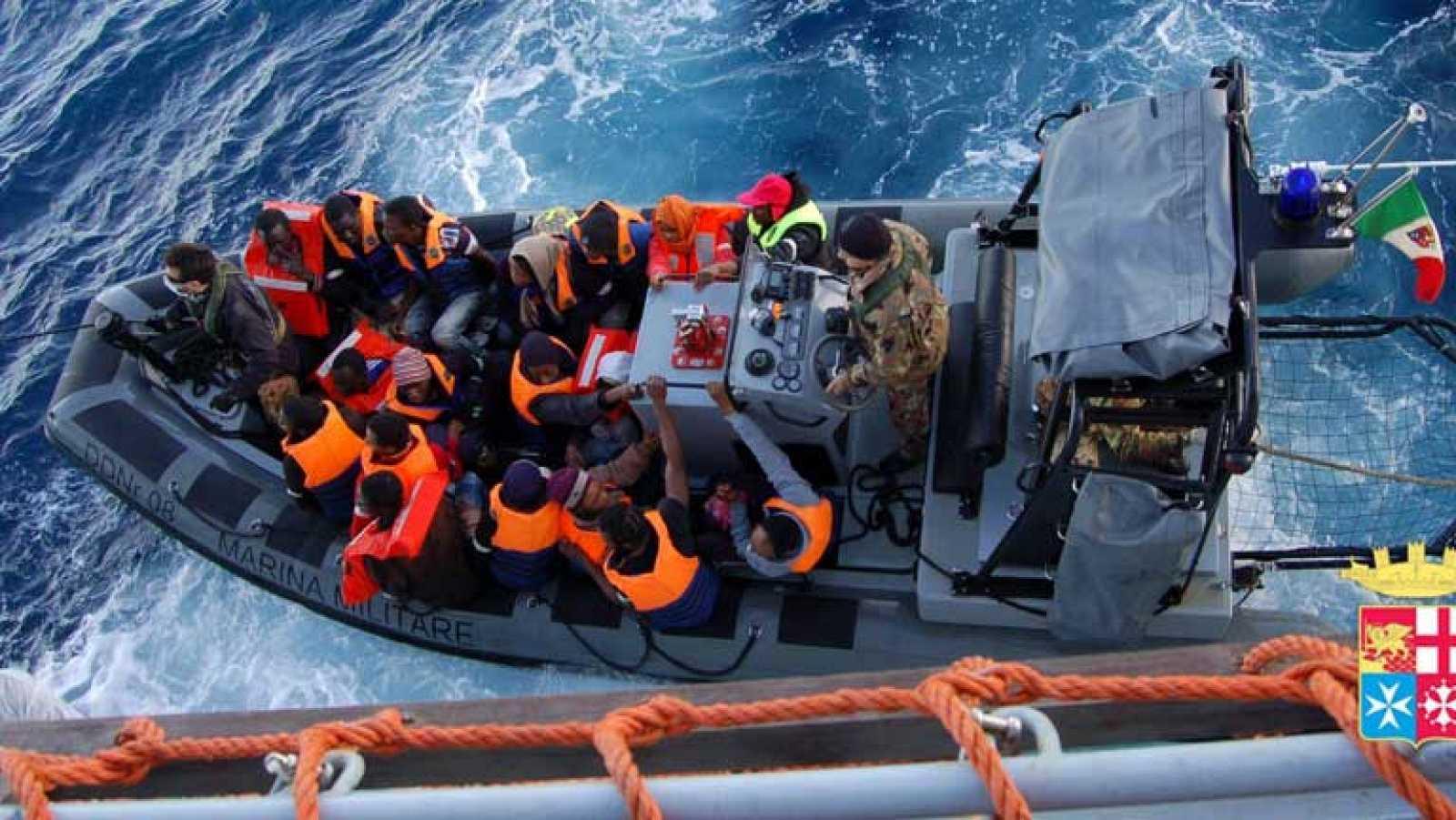 Más de mil inmigrantes rescatados en Lampedusa