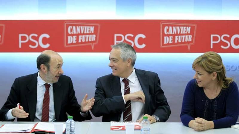 PSOE y PSC se reunen para mostrar su unión frente a la consulta soberanista