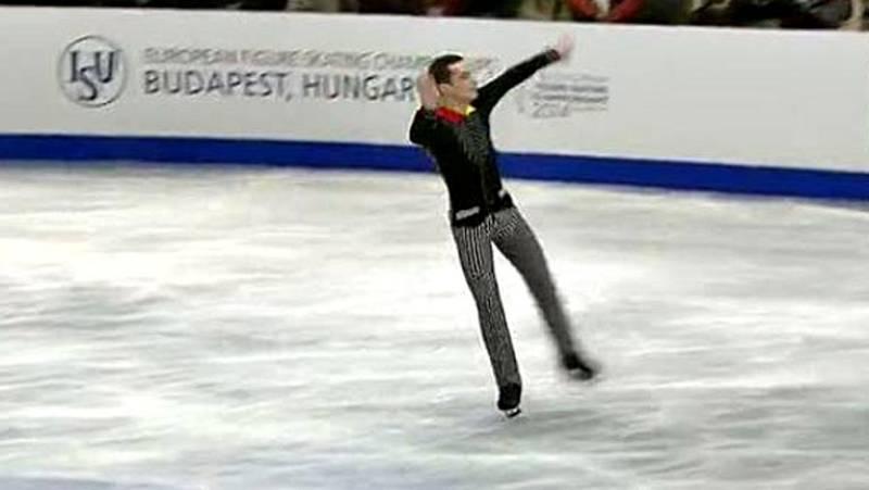 El español Javier Fernández ha sido el mejor en el programa corto de la competición individual masculina de los Campeonatos de Europa de patinaje artístico de Budapest, y será el sábado el favorito para revalidar el título en el largo, al que también