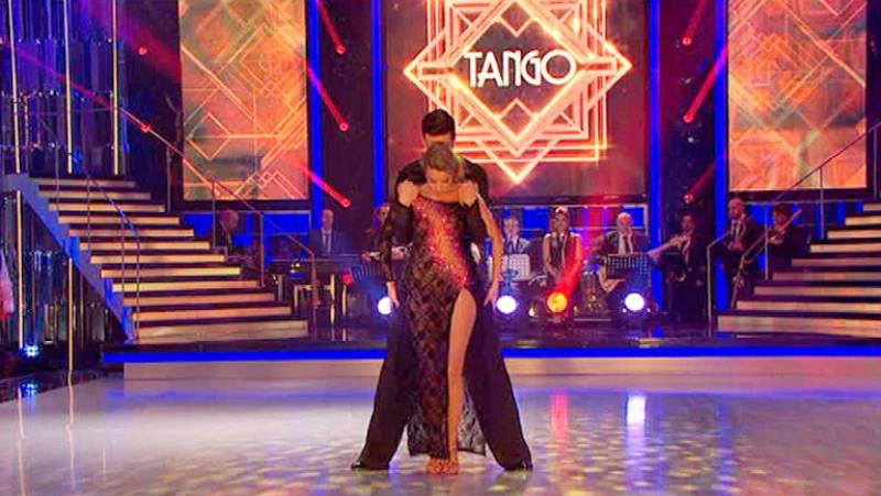 Mira quién baila - Corina Randazzo disfruta con un tango