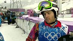 """Lucas Eguibar: """"Cuando la nieve está así, te puedes caer fácilmente"""""""