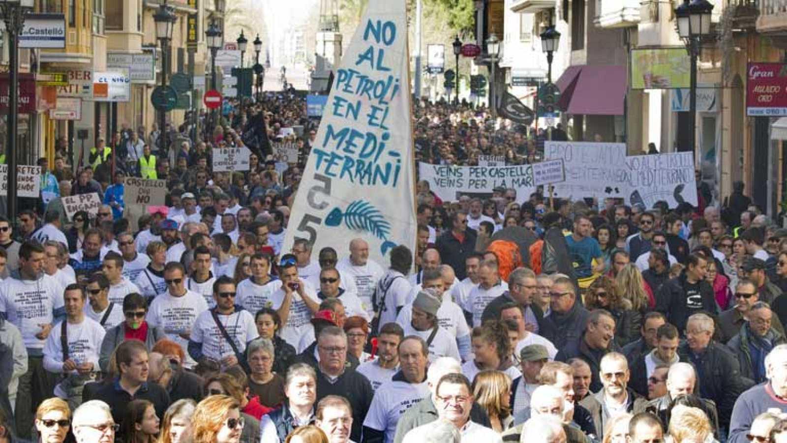 Manifestaciones en contra del proyecto de prospecciones petrolíferas
