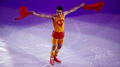 Clase de aerobic de Javier Fernández para cerrar su actuación en Sochi