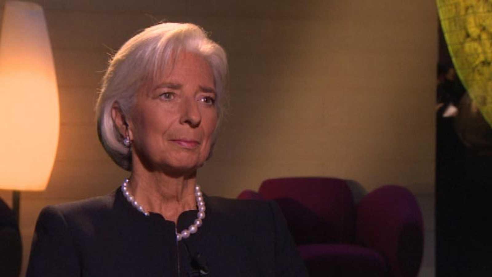 """Lagarde: """"España parece que ha girado ya un poco el cabo de la crisis"""""""