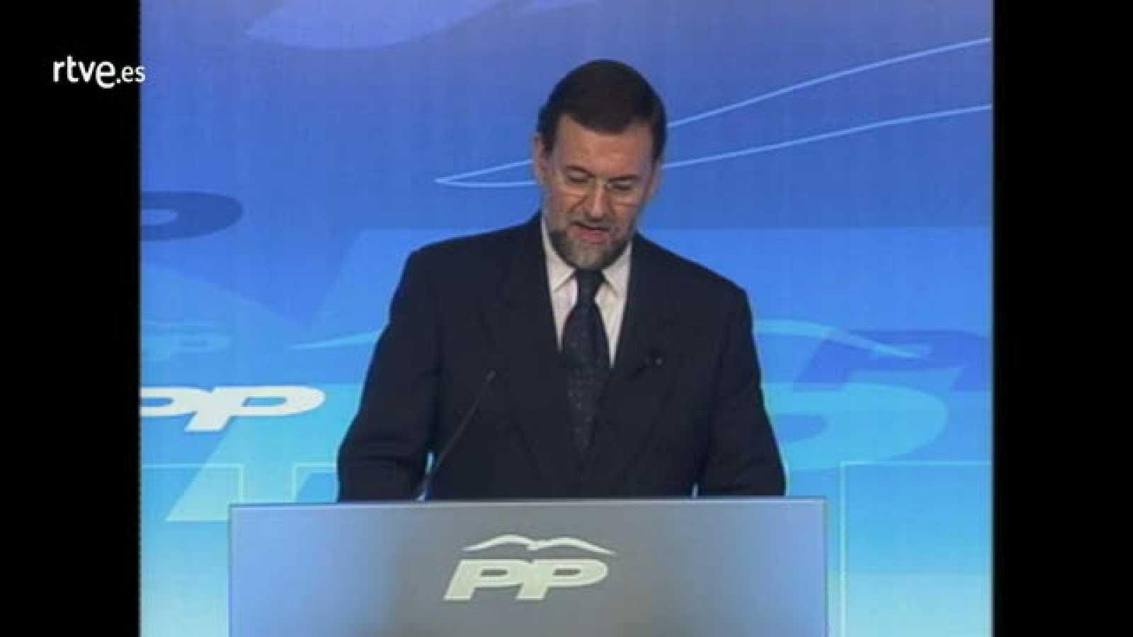 Comparecencia de Rajoy durante la jornada de reflexión para denunciar las protestas ante las sedes del PP por el 11M