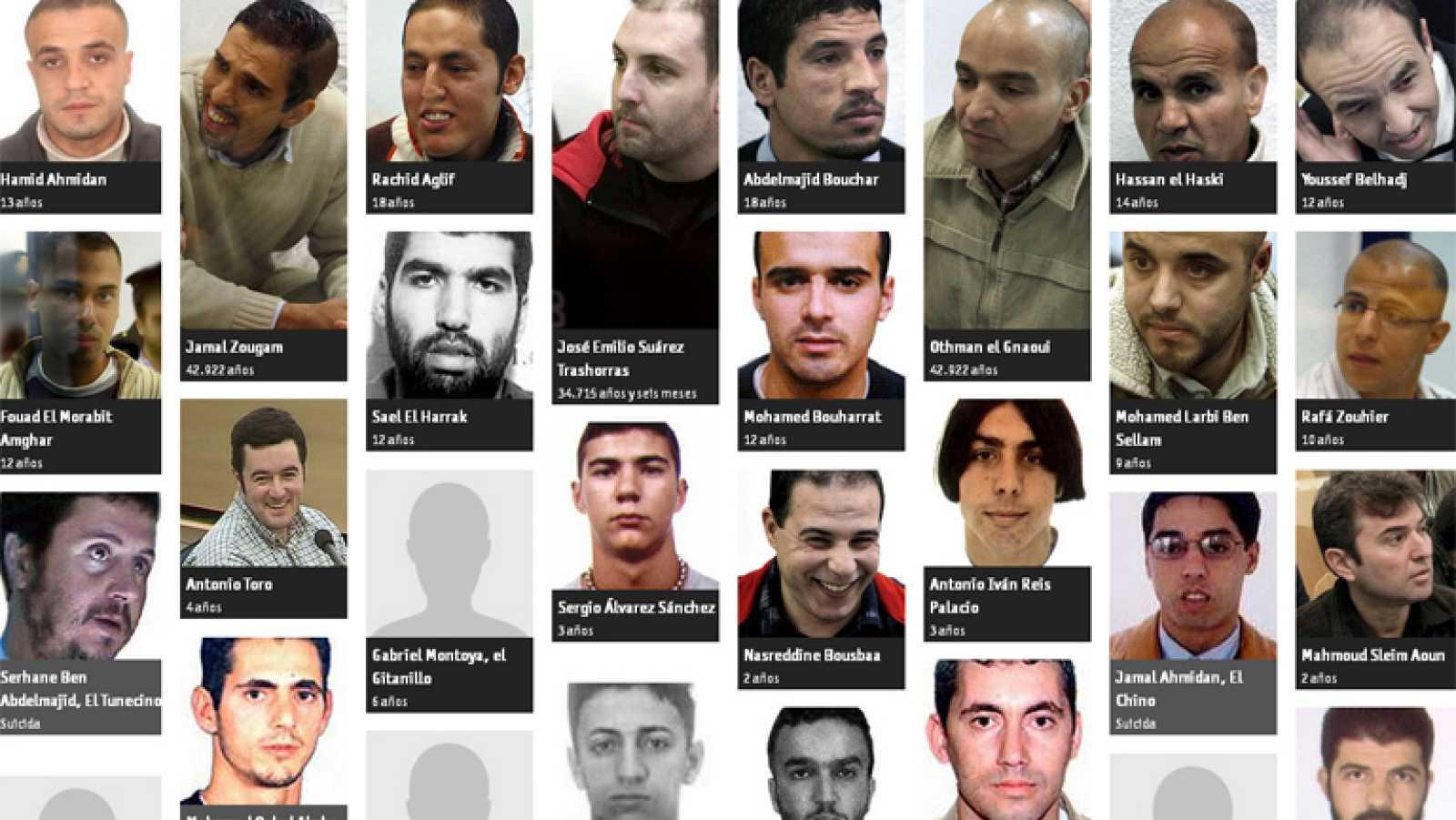 10 años después del atentado del 11-M, 14 de los 18 condenados permanecen en prisión