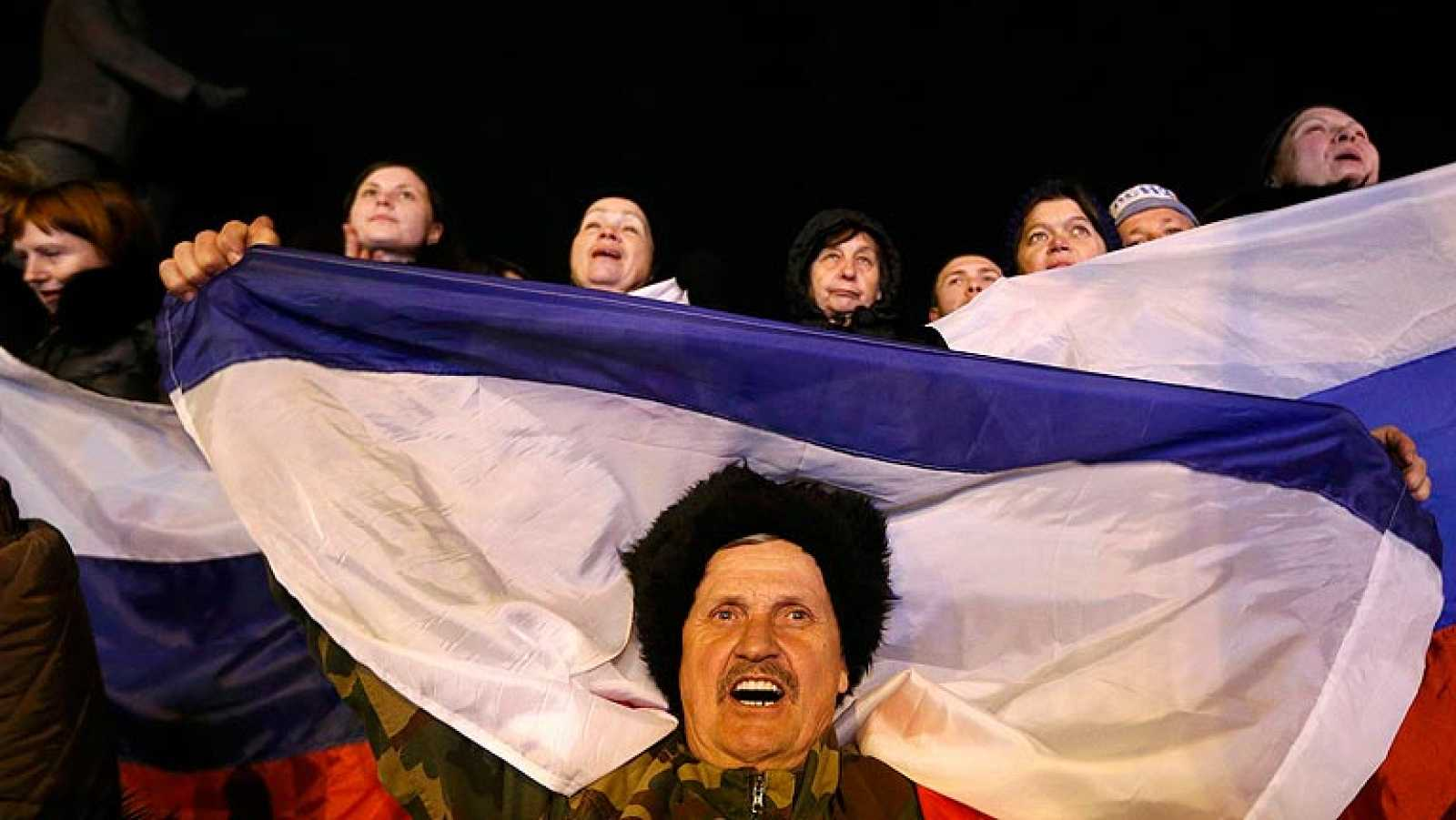 Un 96,6% de los crimeos votan sí a la unificación con Rusia