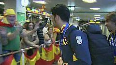 Recibimiento triunfal a los paralímpicos españoles