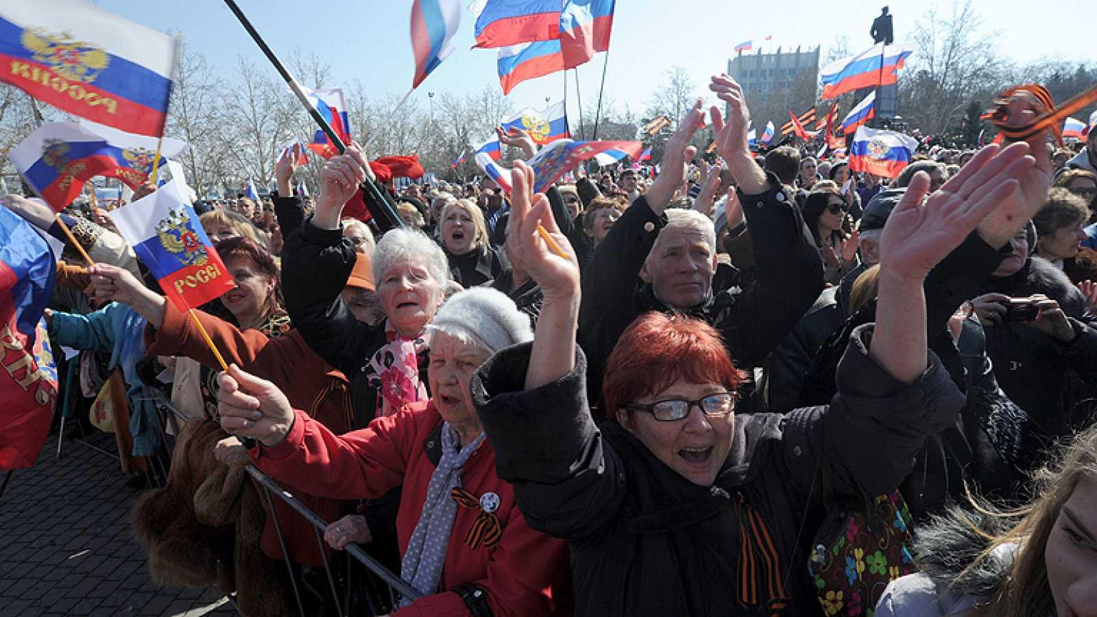 La mayoría de los ciudadanos de Crimea se muestra a favor de su anexión a la Federación Rusa