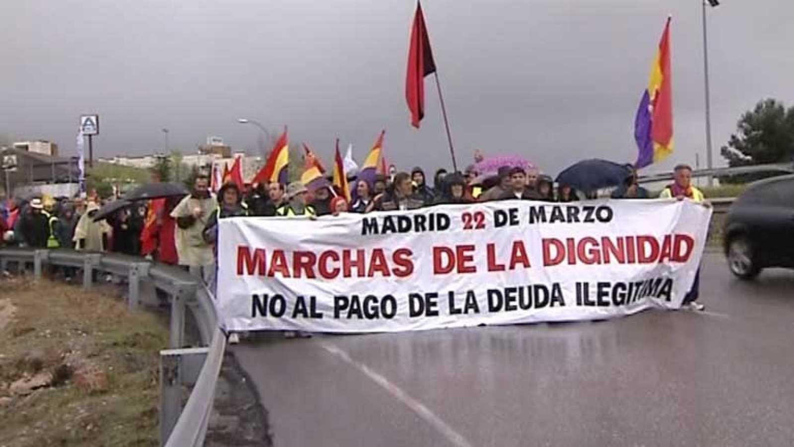 Las seis columnas de las Marchas de la Dignidad llegan a Madrid