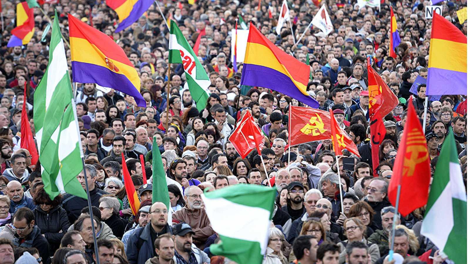 Multitudinaria manifestación en el centro de Madrid