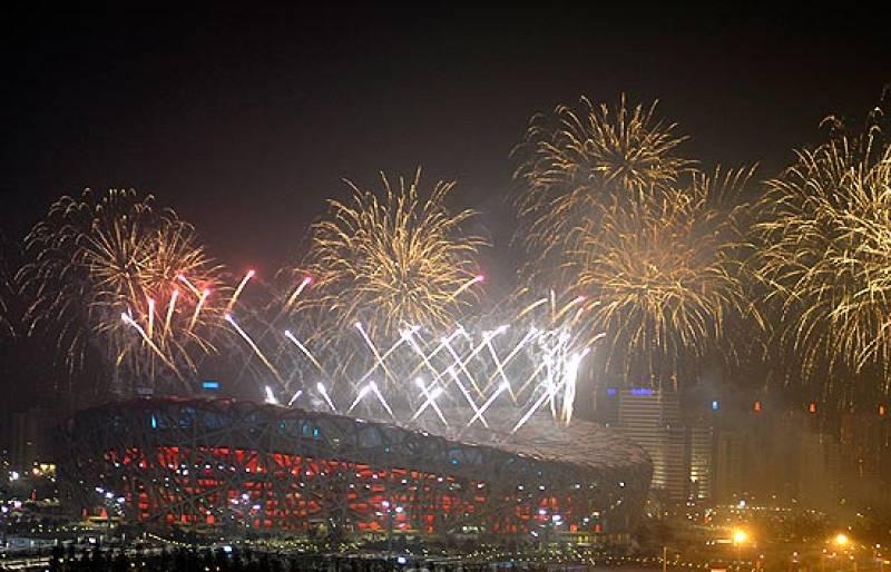 La pirotecnia, inventada por los chinos, ha protagonizado gran parte de la ceremonia de inauguración de los Juegos Olímpicos.