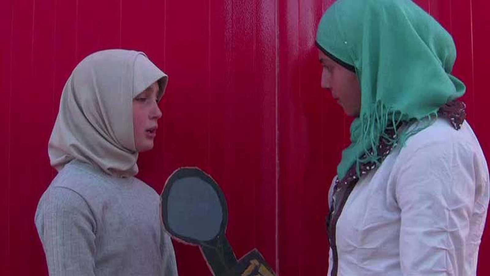 Mazoun y su debut como reportera en Zaatari