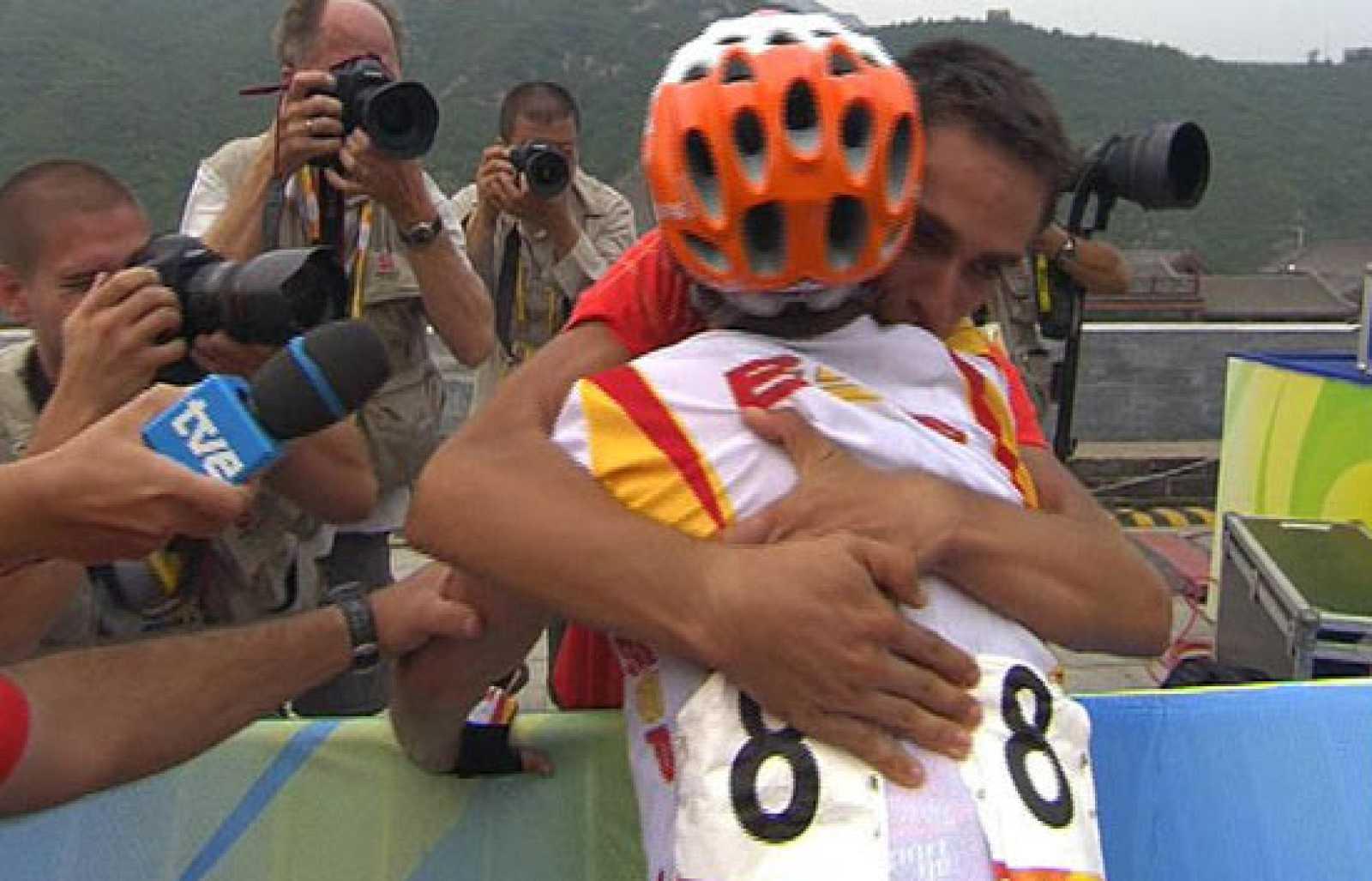 Sánchez y Contador celebran el oro