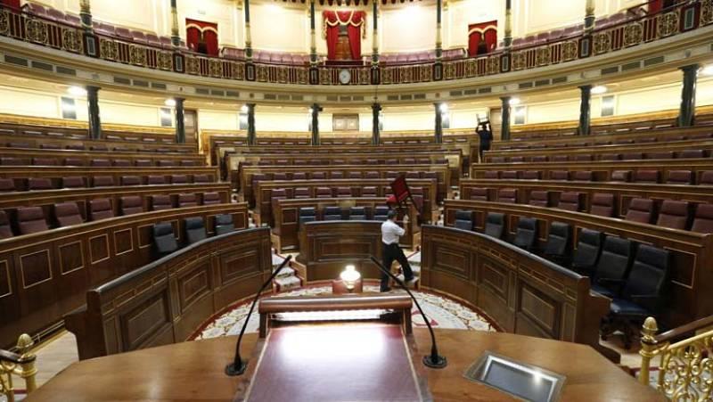 Todo preparado en el Congreso de los Diputados para la sesión de mañana