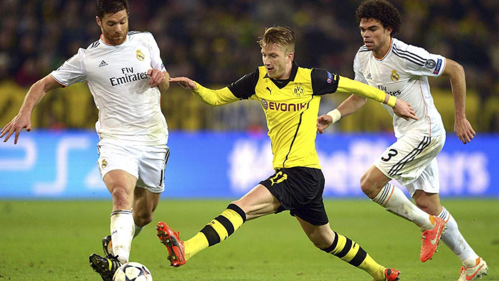 El Real Madrid cayó ante el Borussia Dortmund por 2-0 pero consiguió el pase a semifinales gracias al 3-0 logrado en el Bernabéu.