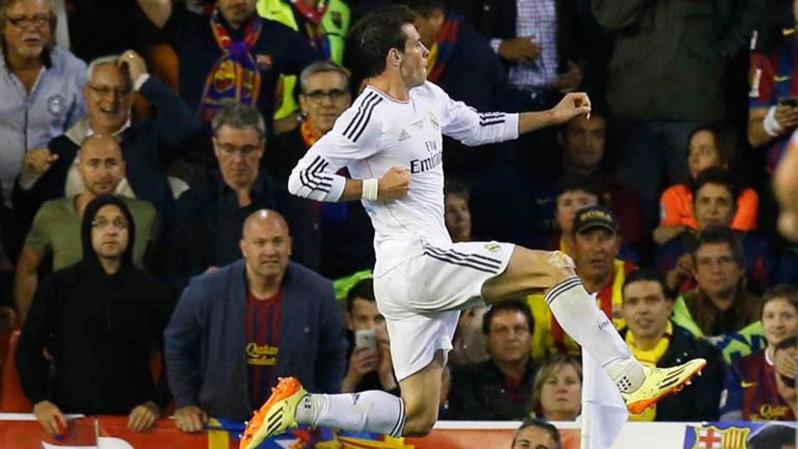 El galés Gareth Bale firmó una espectacular jugada individual, plena de potencia, para adelantar de nuevo al Real Madrid (2-1) ante el Barcelona a los 85 minutos de la final de la Copa del Rey, que se está disputando en el estadio valenciano de Mesta